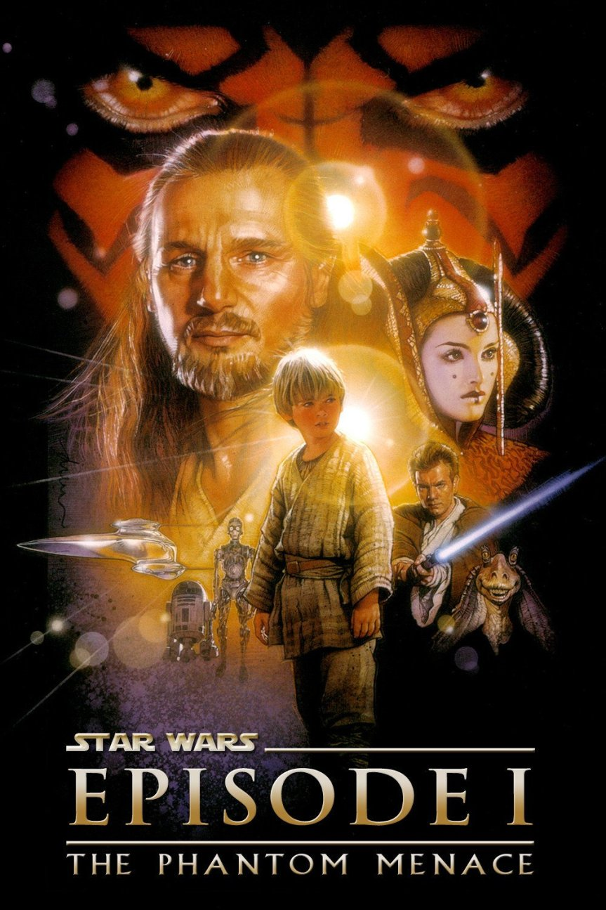 "Poster for the movie ""Star Wars: Episode I - The Phantom Menace"""