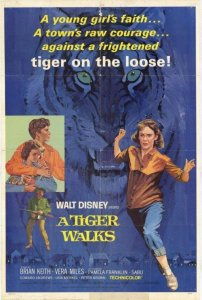 "Poster for the movie ""A Tiger Walks"""