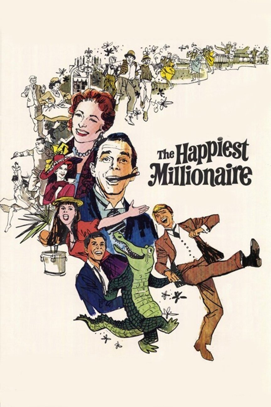 """Poster for the movie """"The Happiest Millionaire"""""""