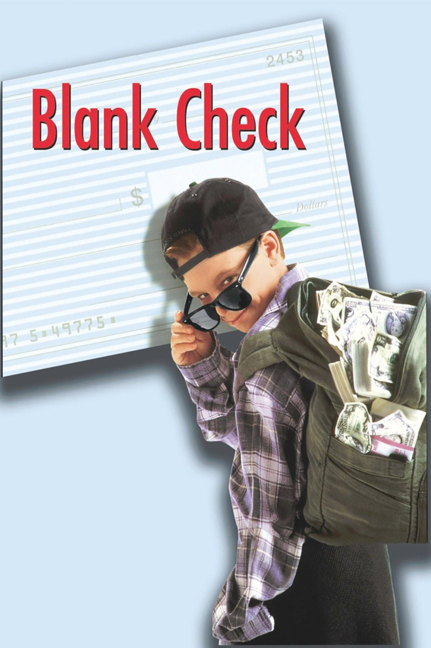 "Poster for the movie ""Blank Check"""