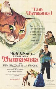 "Poster for the movie ""The Three Lives of Thomasina"""