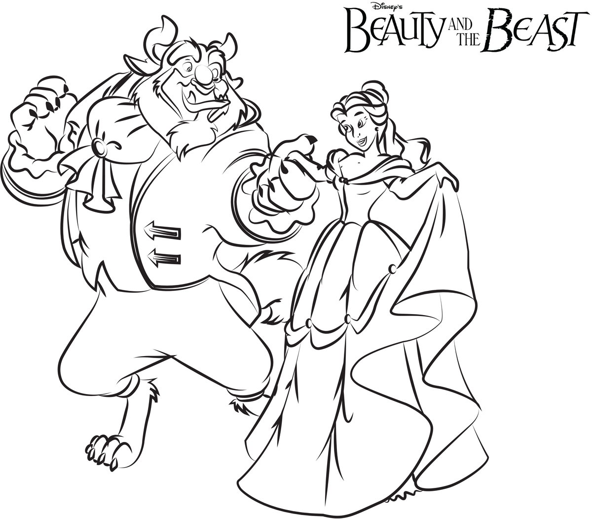 Ballroom Dance Beauty And The Beast Coloring Pages Disney Movies List