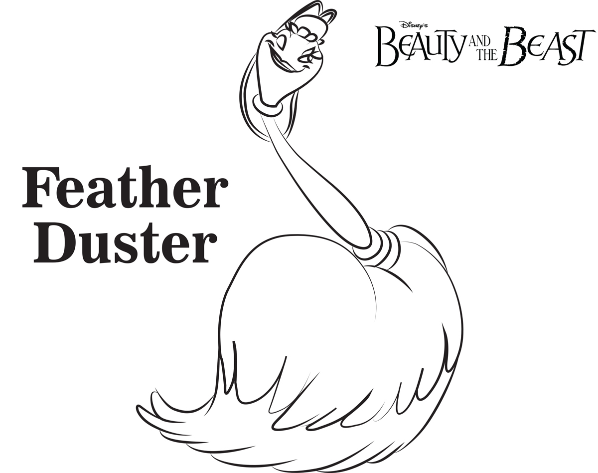 Feather Duster Beauty And The Beast Coloring Pages