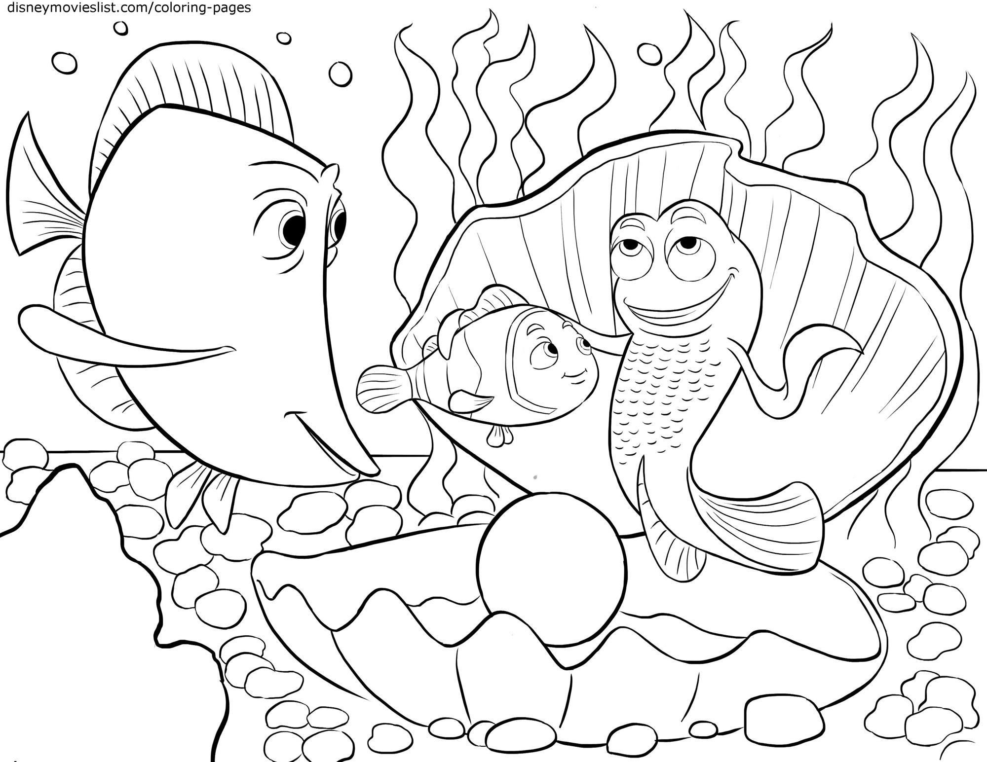 Gurgle - Finding Nemo Coloring Pages - Disney Movies List