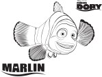 Marlin – Finding Dory Coloring Pages