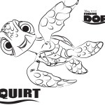 Squirt – Finding Dory Coloring Pages
