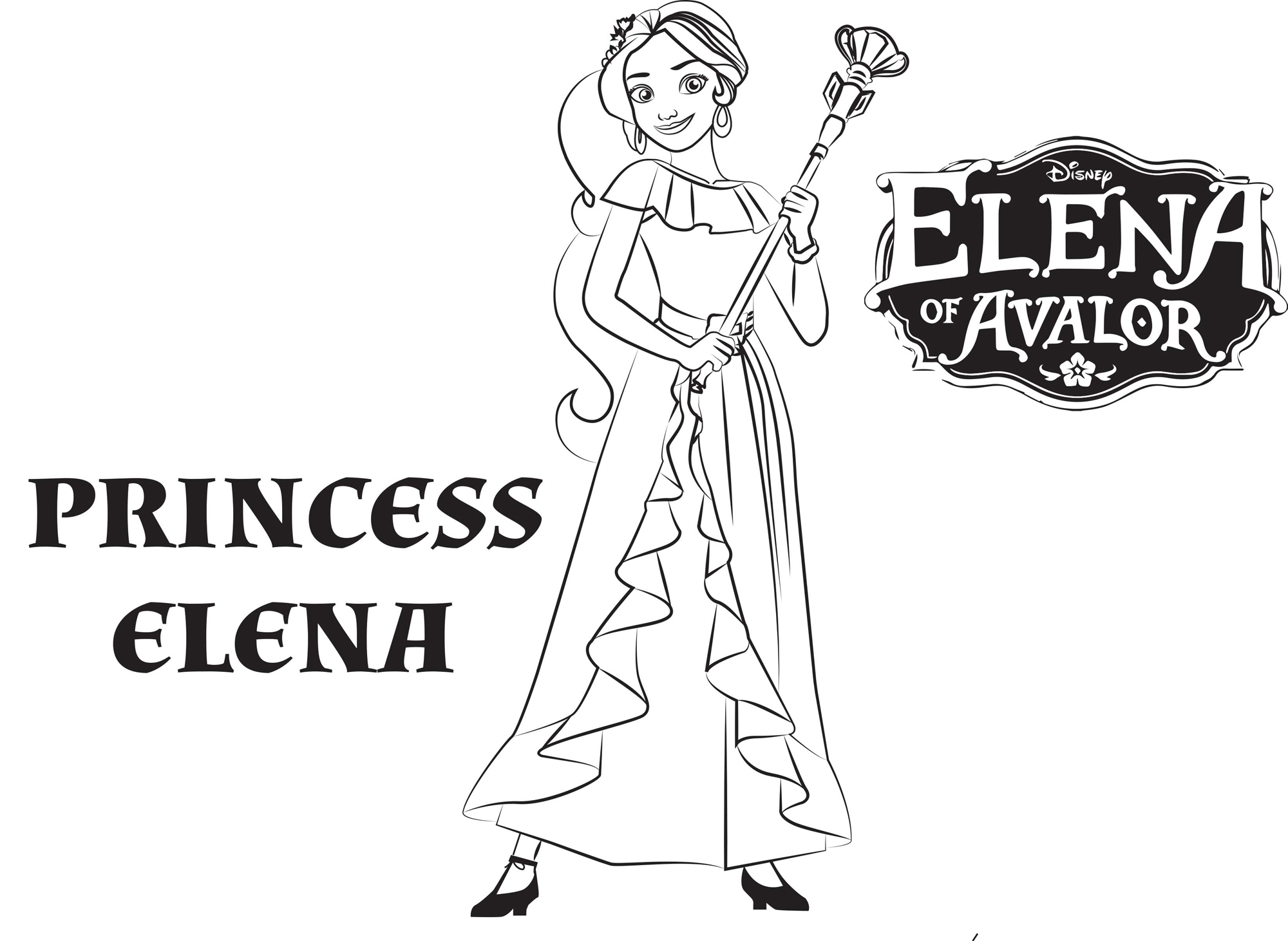 It's just a photo of Smart princess elena coloring page