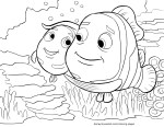 Nemo and Marlin - Finding Nemo Coloring Pages