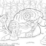 Young Merida – Brave Coloring Pages