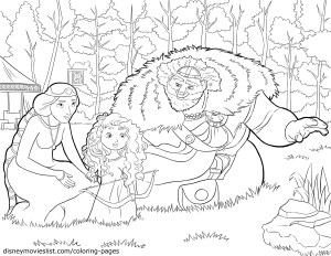Brave Coloring Pages Disney Movies List