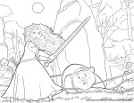 Merida and Elinor Captured – Brave Coloring Pages