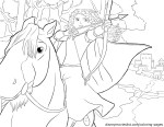 Merida on Horseback With Bow and Arrow – Brave Coloring Pages