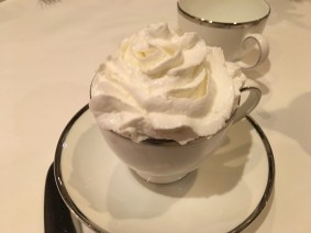 Hot Chocolate with a mountain of whipped cream