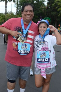 My daughter and I after my first runDisney 5K