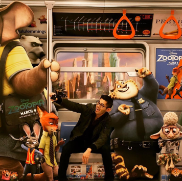 Benson and some of his Zootopia buddies