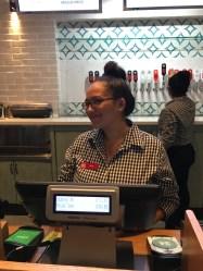 Sara my impressive helper and order taker