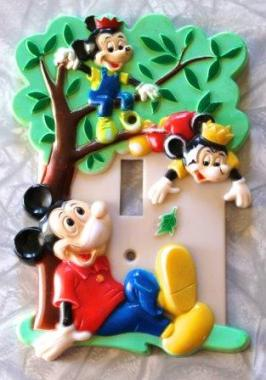 1976 Disney Mickey Mouse Light switch cover