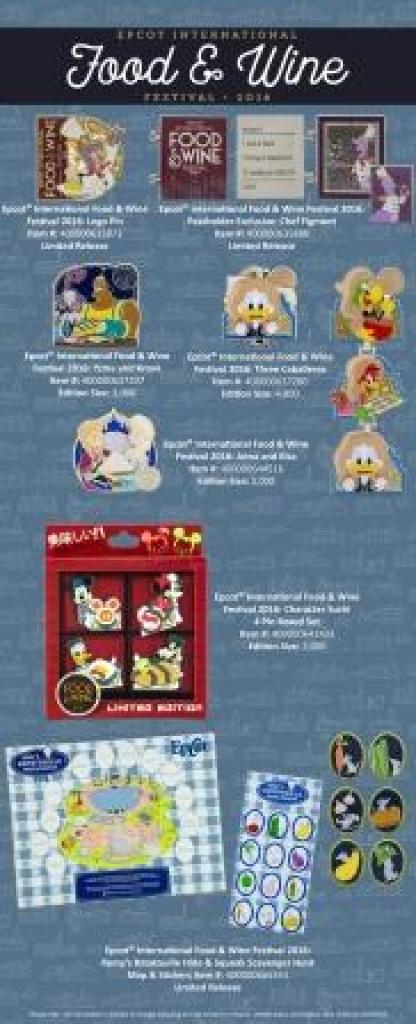 epcot food and wine festival disney trading pins