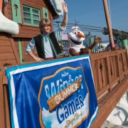 Kristoff and Olaf Come to Blizzard Beach for the 'Frozen' Games