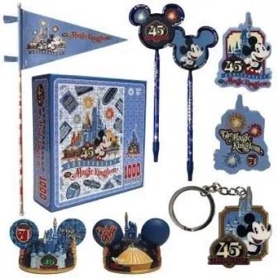 disney magic kingdom 45th anniversary merchandise
