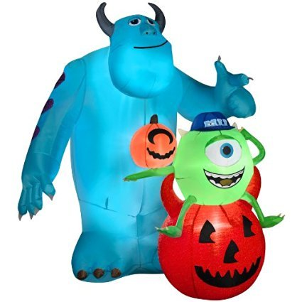 inflatable mike and sulley outdoor halloween disney decoration - Blow Up Halloween Decorations