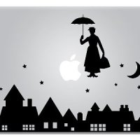 Mary Poppins Dinsey Apple Macbook Laptop Decal
