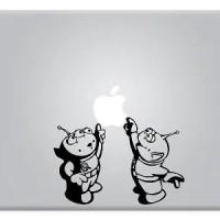 Toy Story Alien Little Green Men Touching Apple Macbook Decal