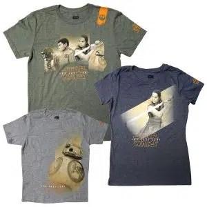 star wars the last jedi t-shirts
