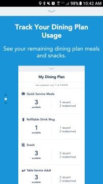 my disney experience app disney dining plan