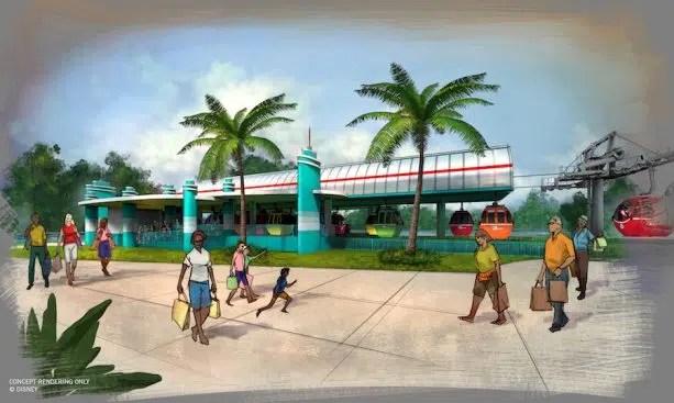 Disney Skyliner Concept Art 3