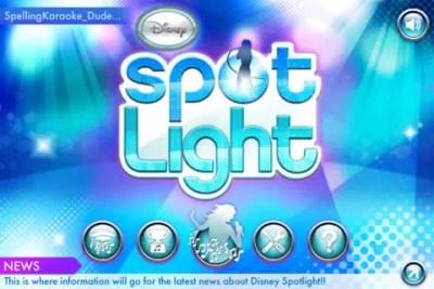 Disney Spotlight Karaoke Mobile App