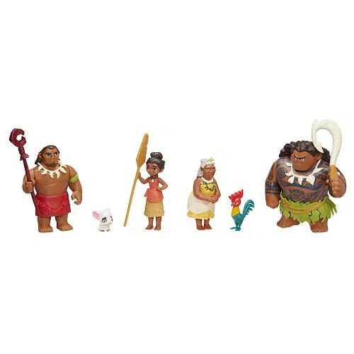 Disney Moana Toy Figures Set (6 Movie Characters)