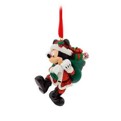 Santa Mickey Mouse Christmas Ornament