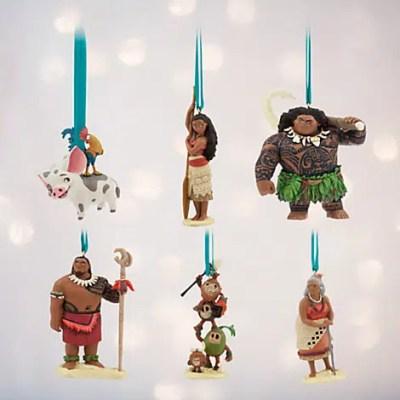 Disney Moana Christmas Ornament Set (6 Character Set)