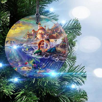 Disney The Little Mermaid Glass Christmas Ornament