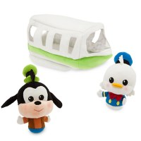 Disney Parks Donald Duck and Goofy Monorail Plush Playset
