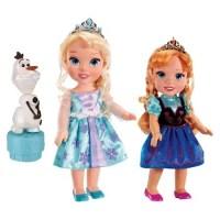 Disney Frozen Toddler Anna & Elsa Dolls (w/Olaf)