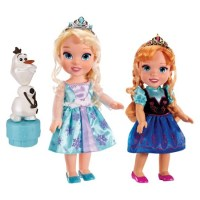 Disney Frozen Toddler Anna & Elsa Dolls (w/Olaf)