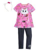 Marie Dress and Leggings Set with Headband for Girls – Disney Furrytale Friends