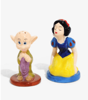 Snow White & Dopey Salt & Pepper Shakers | Disney Housewares