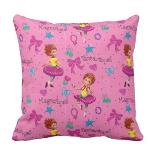 Fancy Nancy Throw Pillow Magnifique Pink Pattern