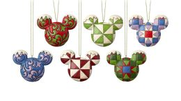 Mickey Mouse Ears Christmas Ornament Set