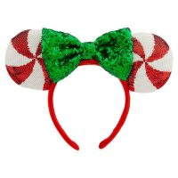 Minnie Mouse Peppermint Candy Ears   Disney Christmas