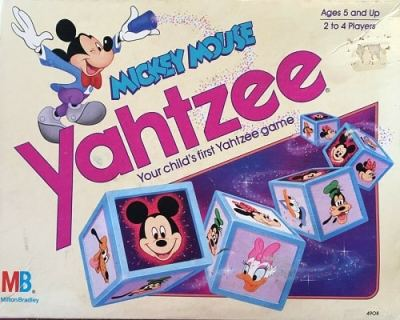 Mickey Mouse Yahtzee Game – 1988