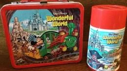 Walt Disney Wonderful World Metal Lunchbox and Thermos - 1980