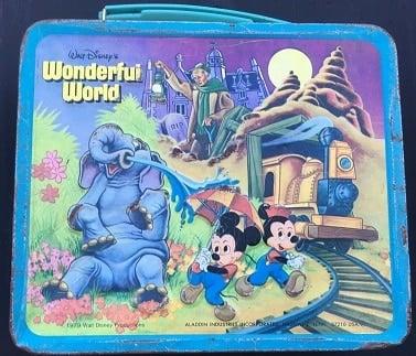 Walt Disney World Magic Kingdom Metal Lunchbox and Thermos- 1979