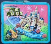 Walt Disney World Magic Kingdom Metal Lunchbox and Thermos- 1979