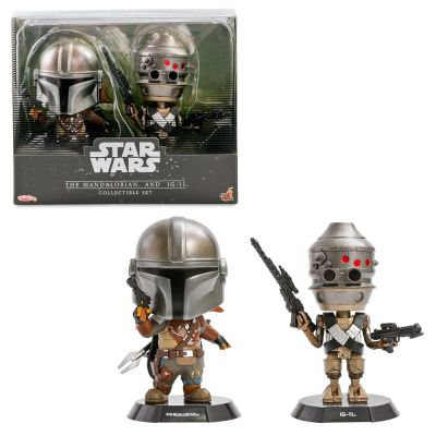 The Mandalorian and IG-11 Bobble-Head Figure Set by Hot Toys – Star Wars: The Mandalorian