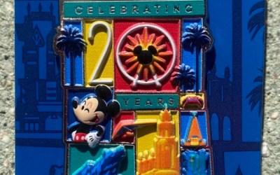 New California Adventure 20th anniversary pins