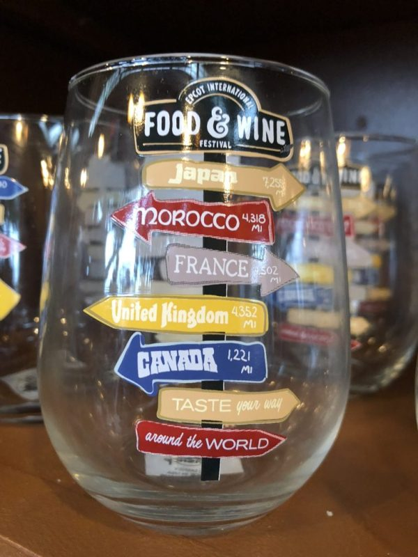 Stemless Wine Galss from the Epcot Food & Wine Festival